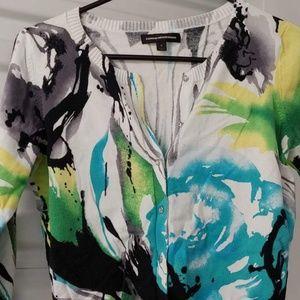 Express cardigan color splash